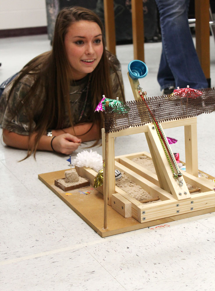 Gallery physics project requires students to build launch catapults for Catapult design plans for physics